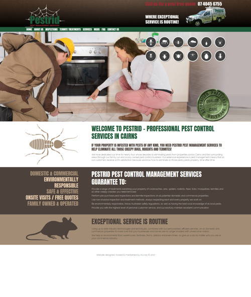 cairns pest removal website design